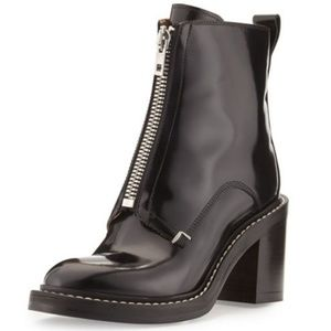 Rag And Bone Shelby Black Runway Leather Boots